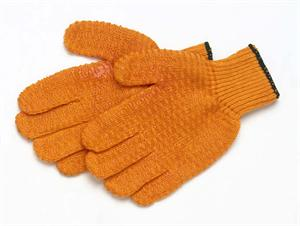 orange snot no-slip gloves