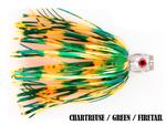 bling candh lures chartreuse green firetail